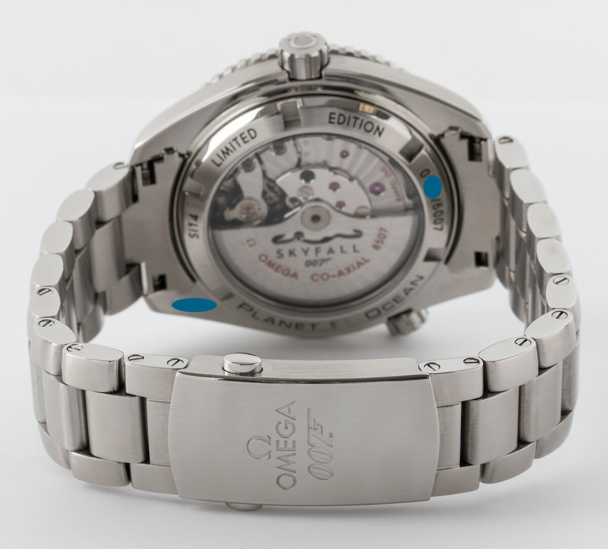 Rear / Band View of Seamaster Planet Ocean 'Skyfall' Limited Edition