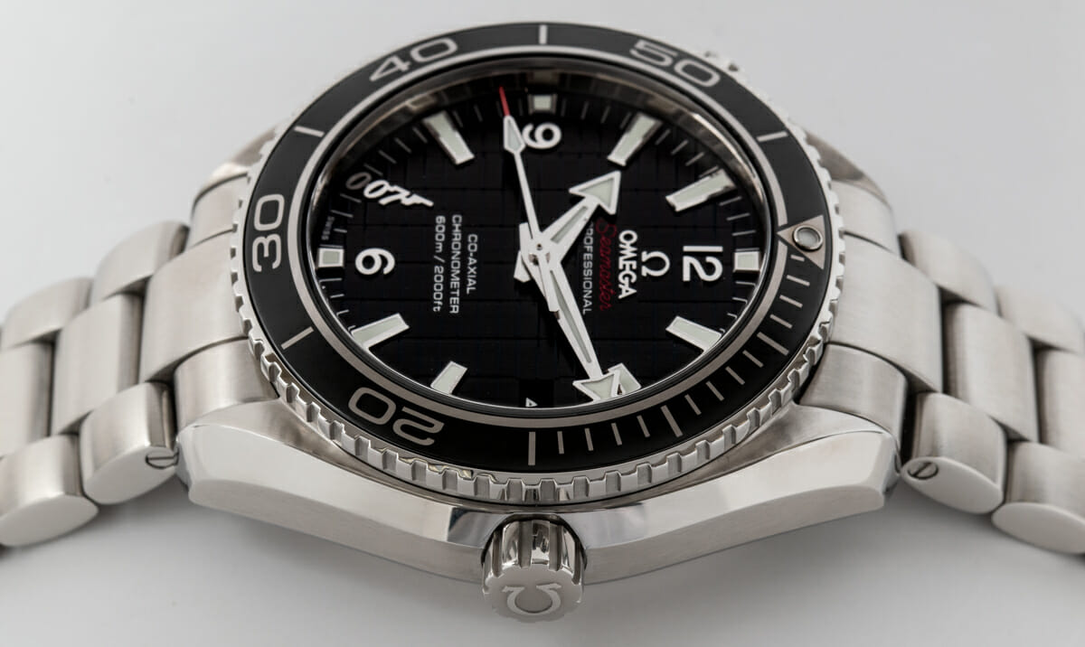 Crown Side Shot of Seamaster Planet Ocean 'Skyfall' Limited Edition