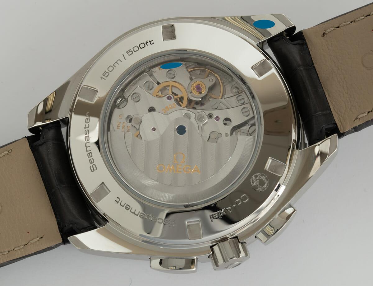 Caseback of Aqua Terra GMT Chronograph