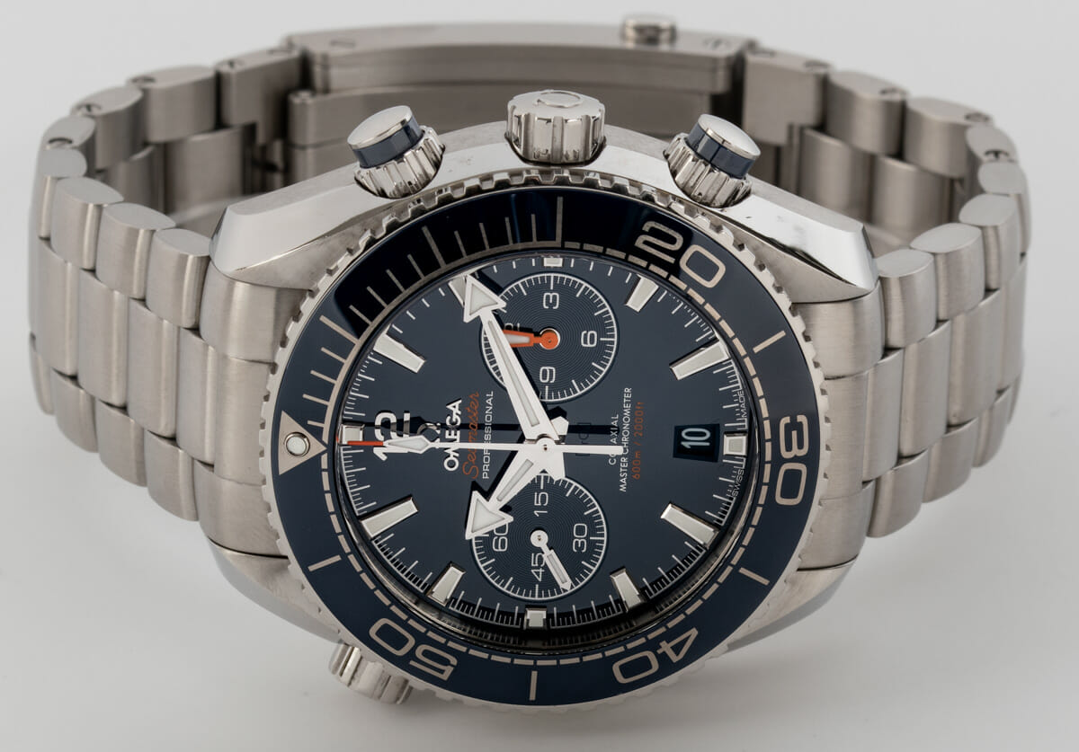 Front View of Planet Ocean 600M Chronograph