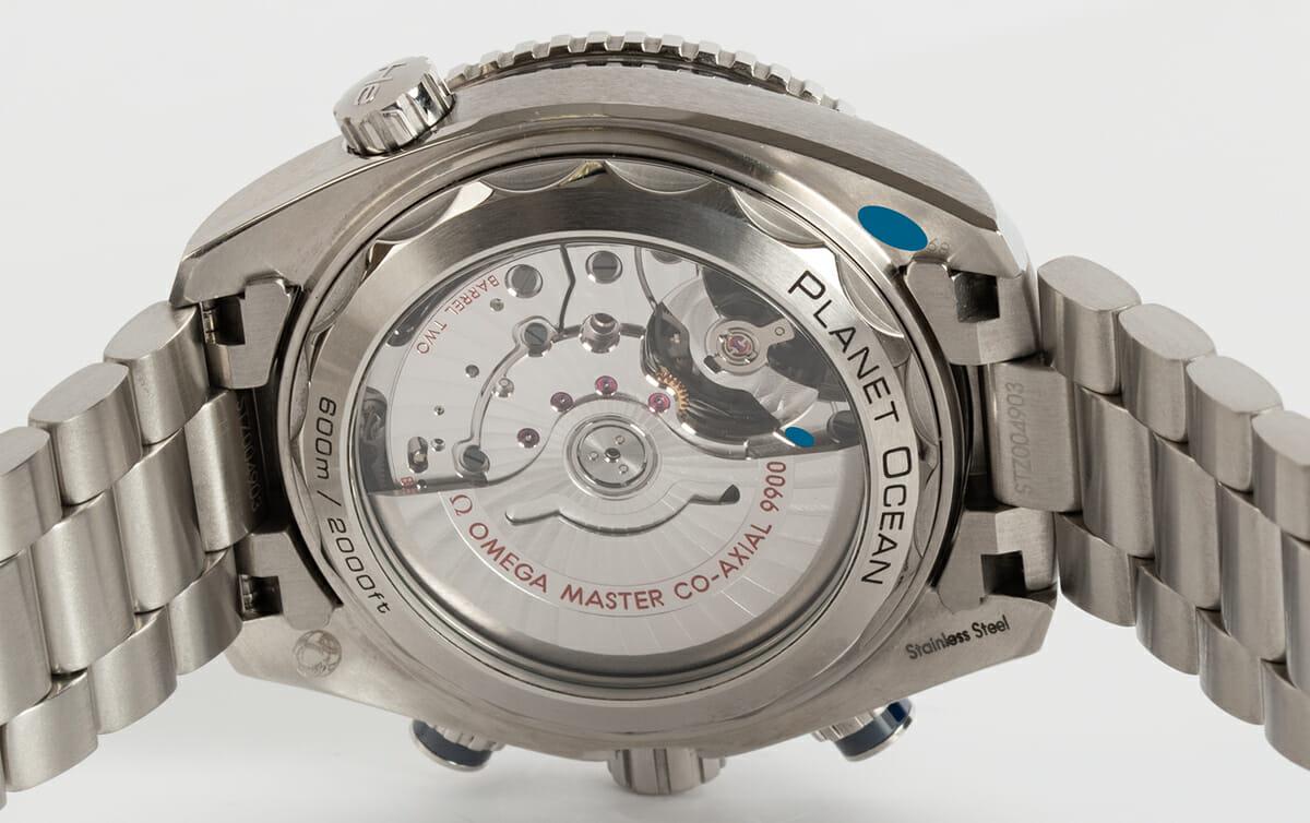 Caseback of Planet Ocean 600M Chronograph