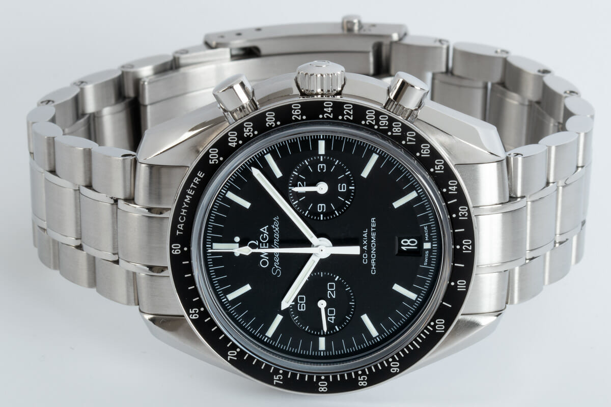 Front View of Speedmaster Moonwatch Co-Axial Chronograph