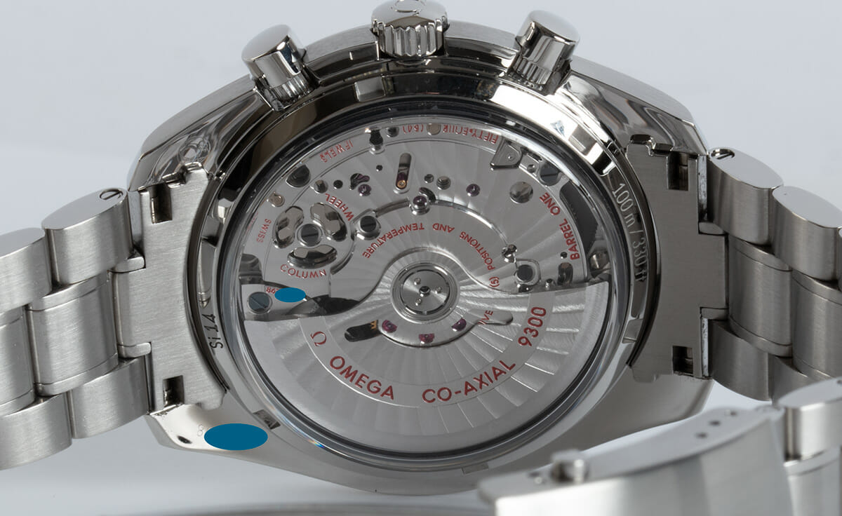 Caseback of Speedmaster Moonwatch Co-Axial Chronograph