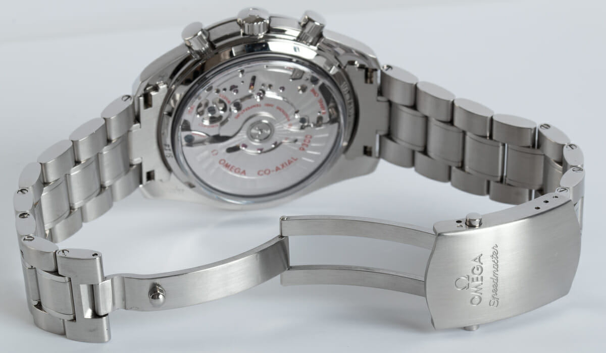 Open Clasp Shot of Speedmaster Moonwatch Co-Axial Chronograph