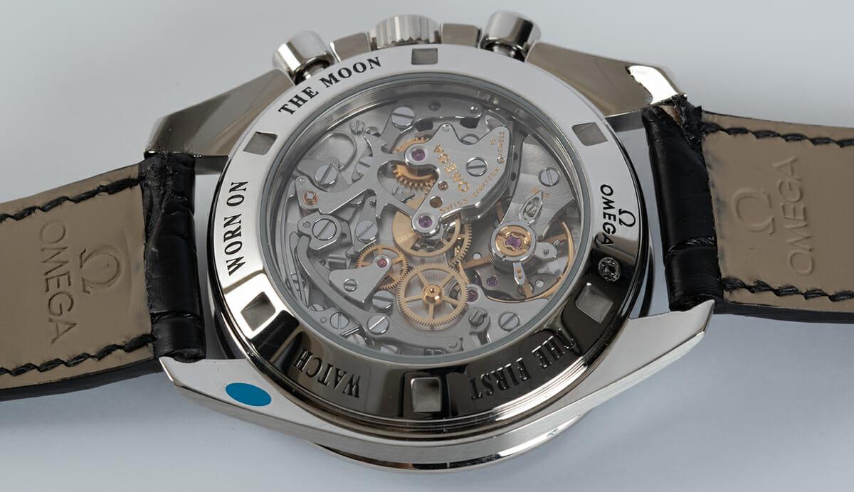 Caseback of Speedmaster Legendary Moonwatch