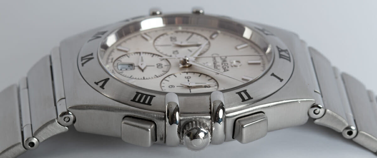 Crown Side Shot of Constellation Chronograph