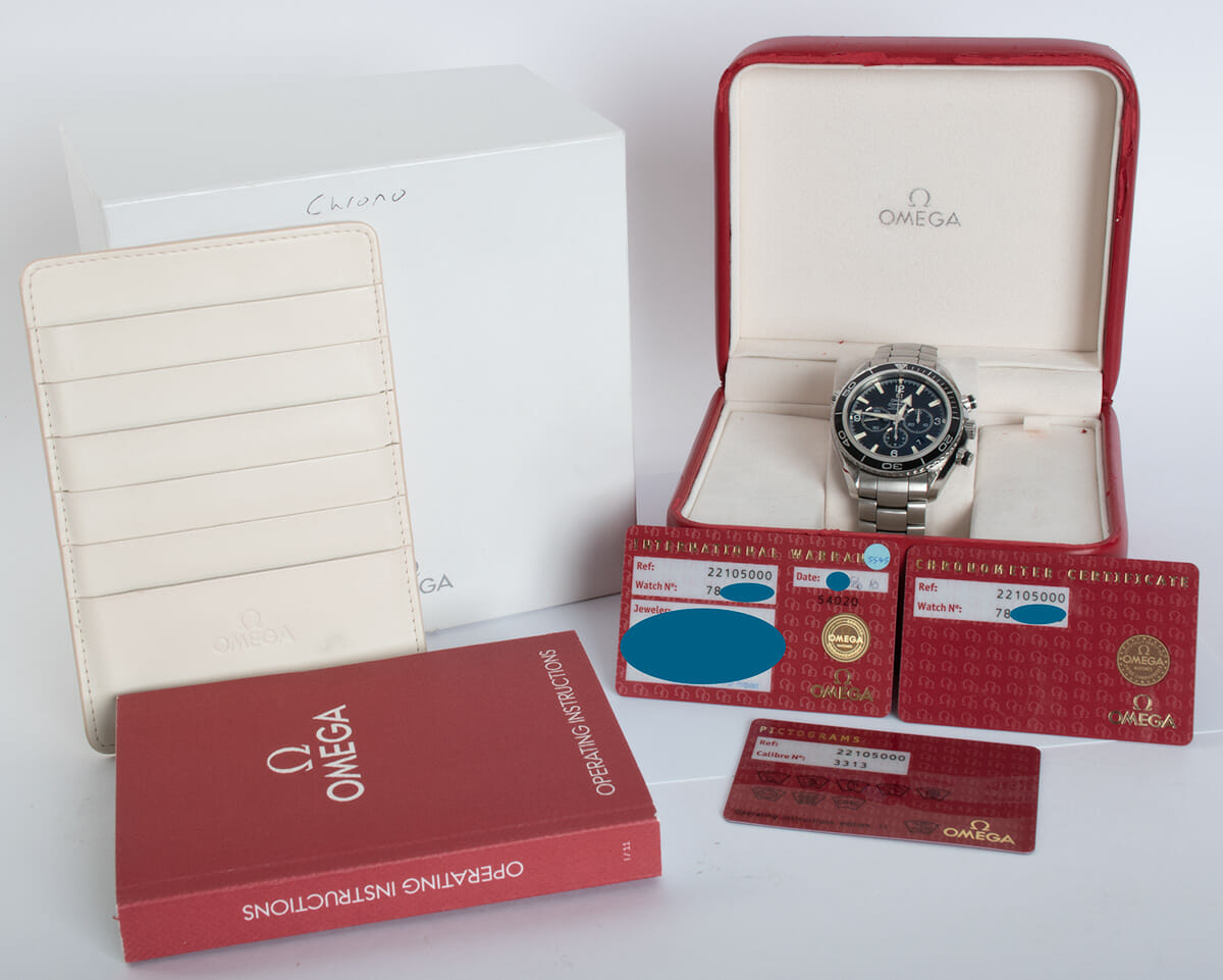 Box / Paper shot of Seamaster Planet Ocean Chronograph