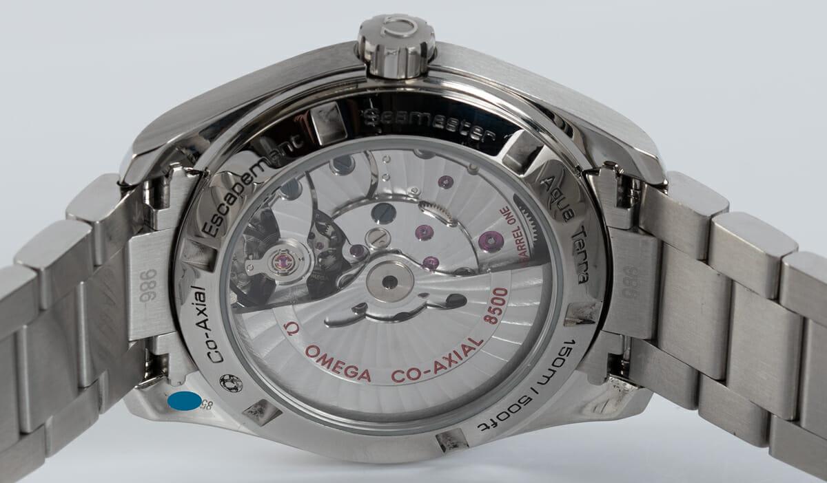 Caseback of Seamaster Aqua Terra 150M 38.5 MM