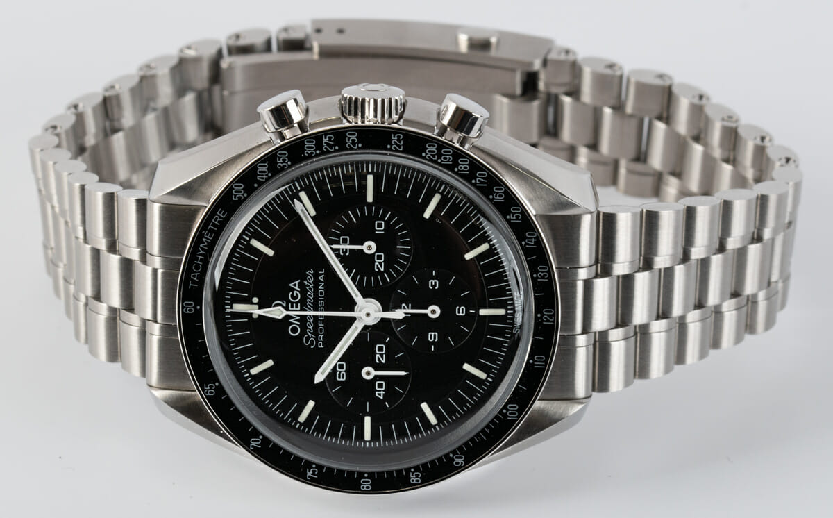 Front View of Speedmaster Moonwatch Professional Co-Axial Master Chronometer