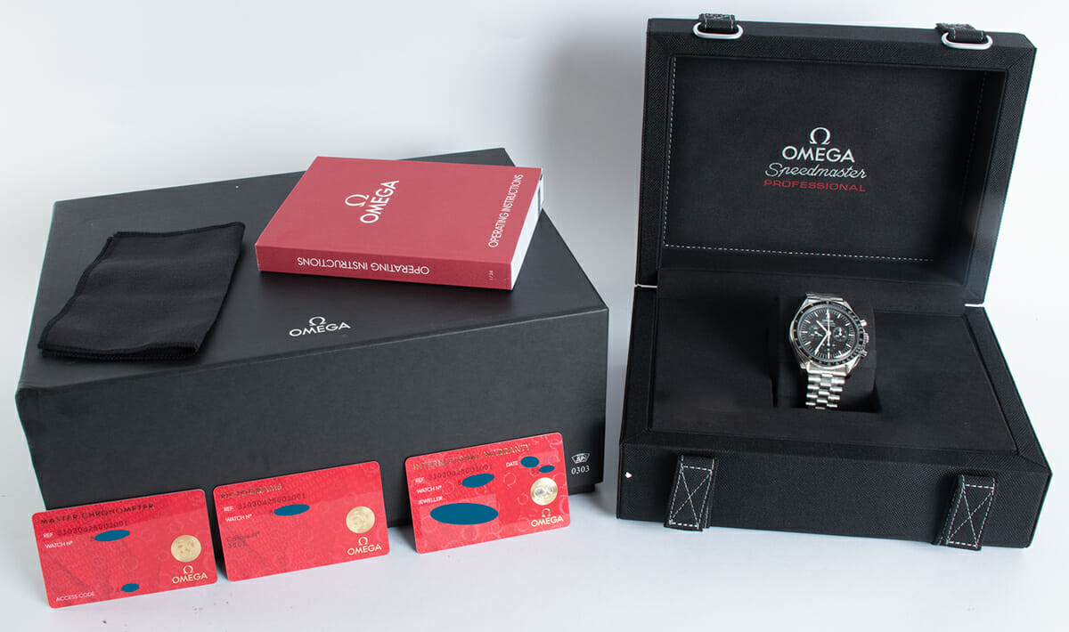 Box / Paper shot of Speedmaster Moonwatch Professional Co-Axial Master Chronometer