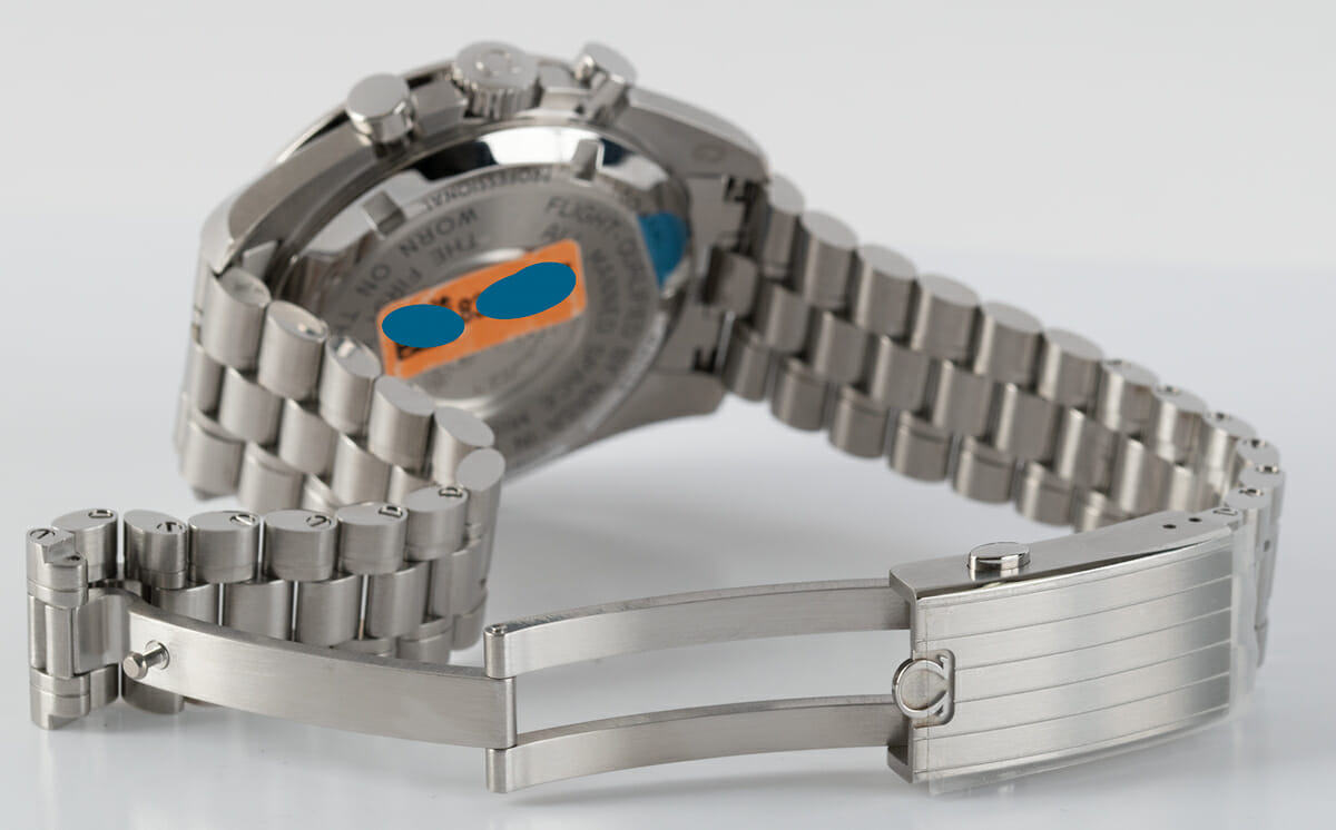 Open Clasp Shot of Speedmaster Moonwatch Professional Co-Axial Master Chronometer