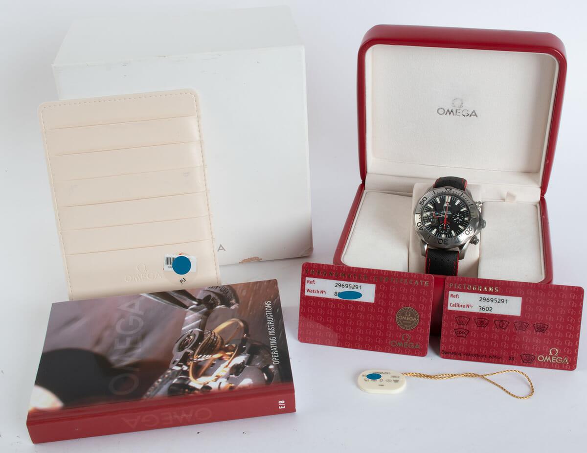 Box / Paper shot of Seamaster Racing Chronometer
