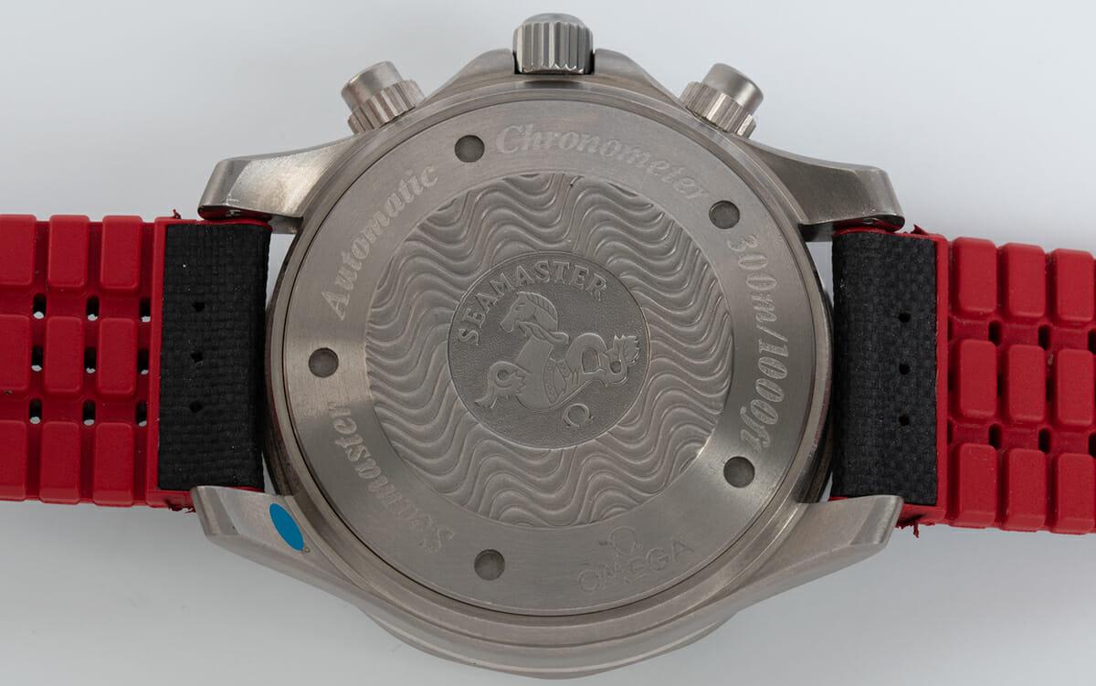 Caseback of Seamaster Racing Chronometer