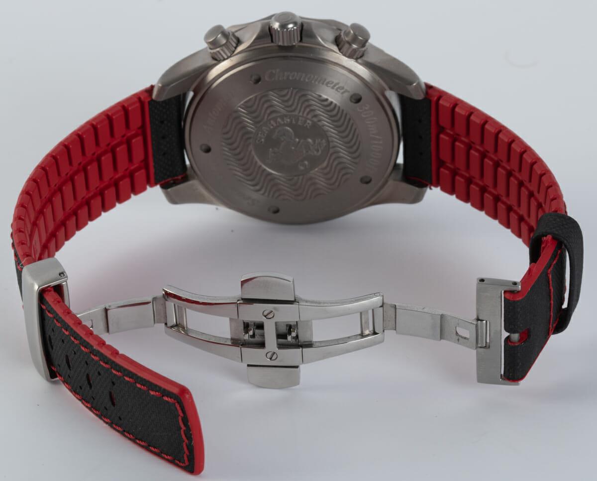 Open Clasp Shot of Seamaster Racing Chronometer