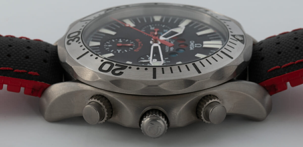 Crown Side Shot of Seamaster Racing Chronometer