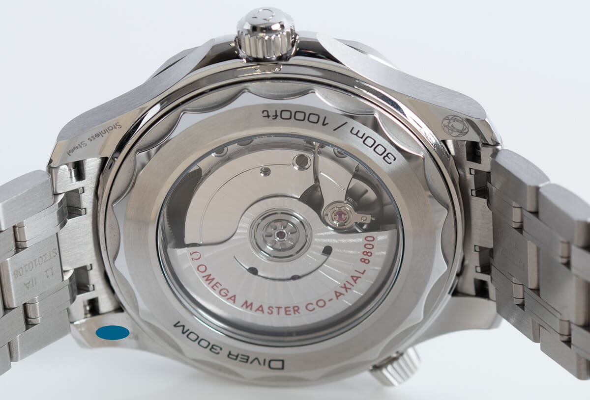 Caseback of Seamaster Diver 300M Master Chronometer