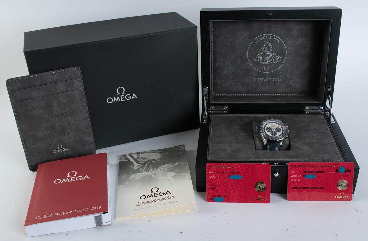 Box / Paper shot of Speedmaster CK 2998 Limited Edition