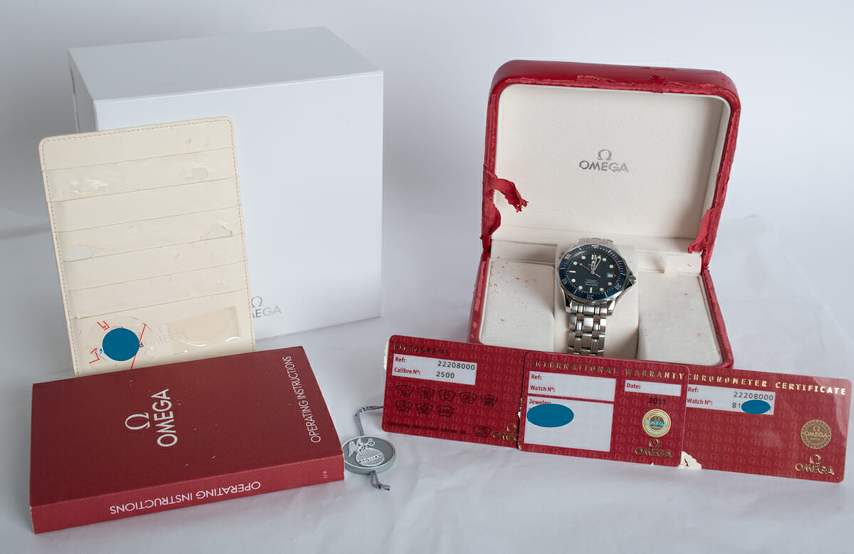Box / Paper shot of Seamaster Professional Co-Axial