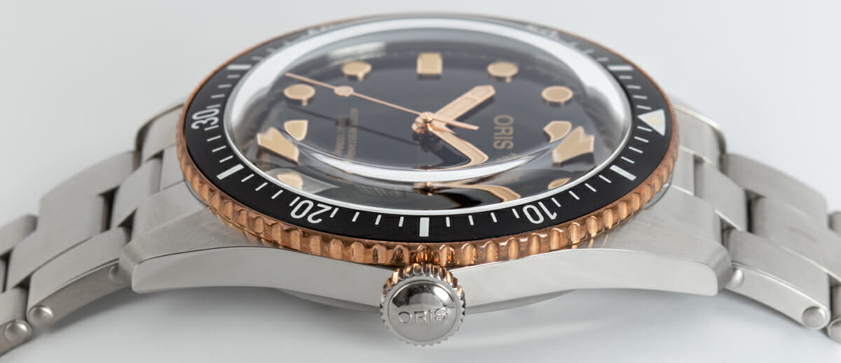 Crown Side Shot of Divers Sixty-Five