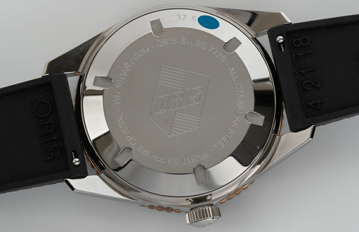 Caseback of Divers Sixty-Five