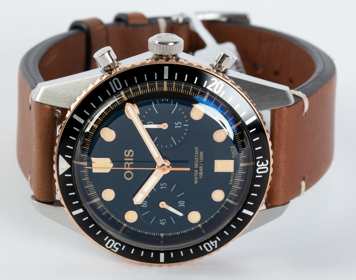 Front View of Divers Sixty-Five Chronograph