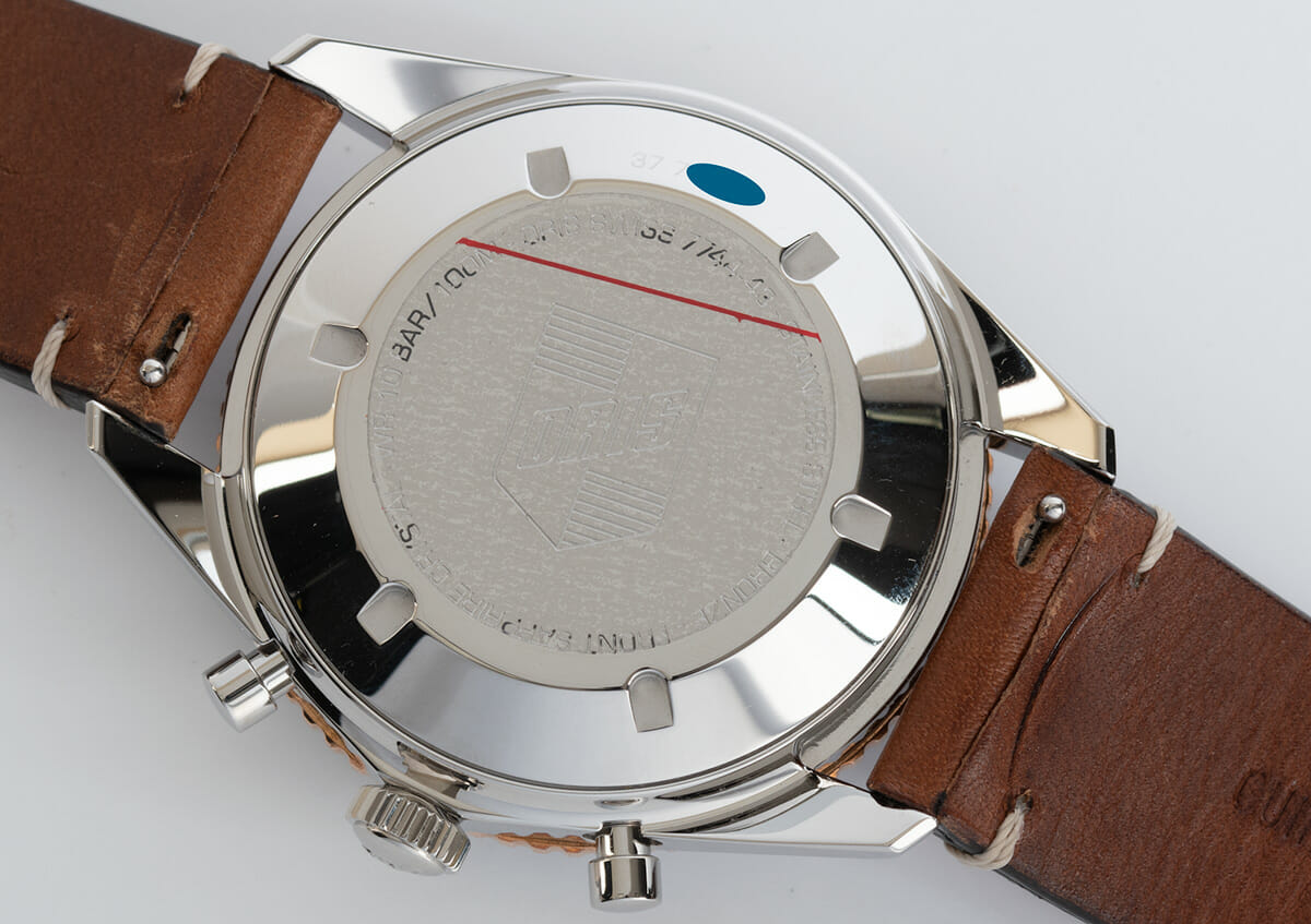 Caseback of Divers Sixty-Five Chronograph
