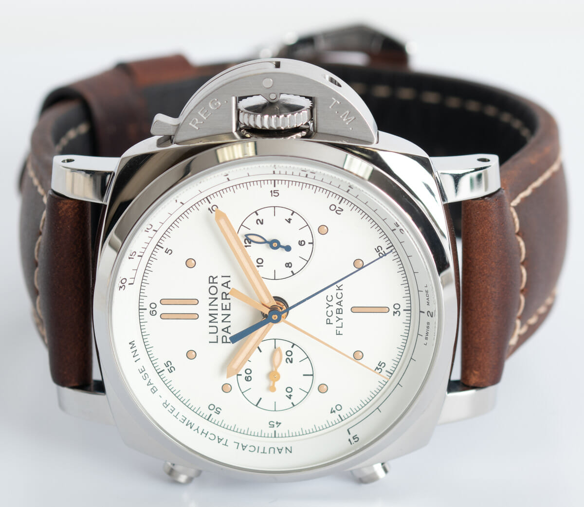 Front View of Luminor 1950 PCYC Flyback Chronograph