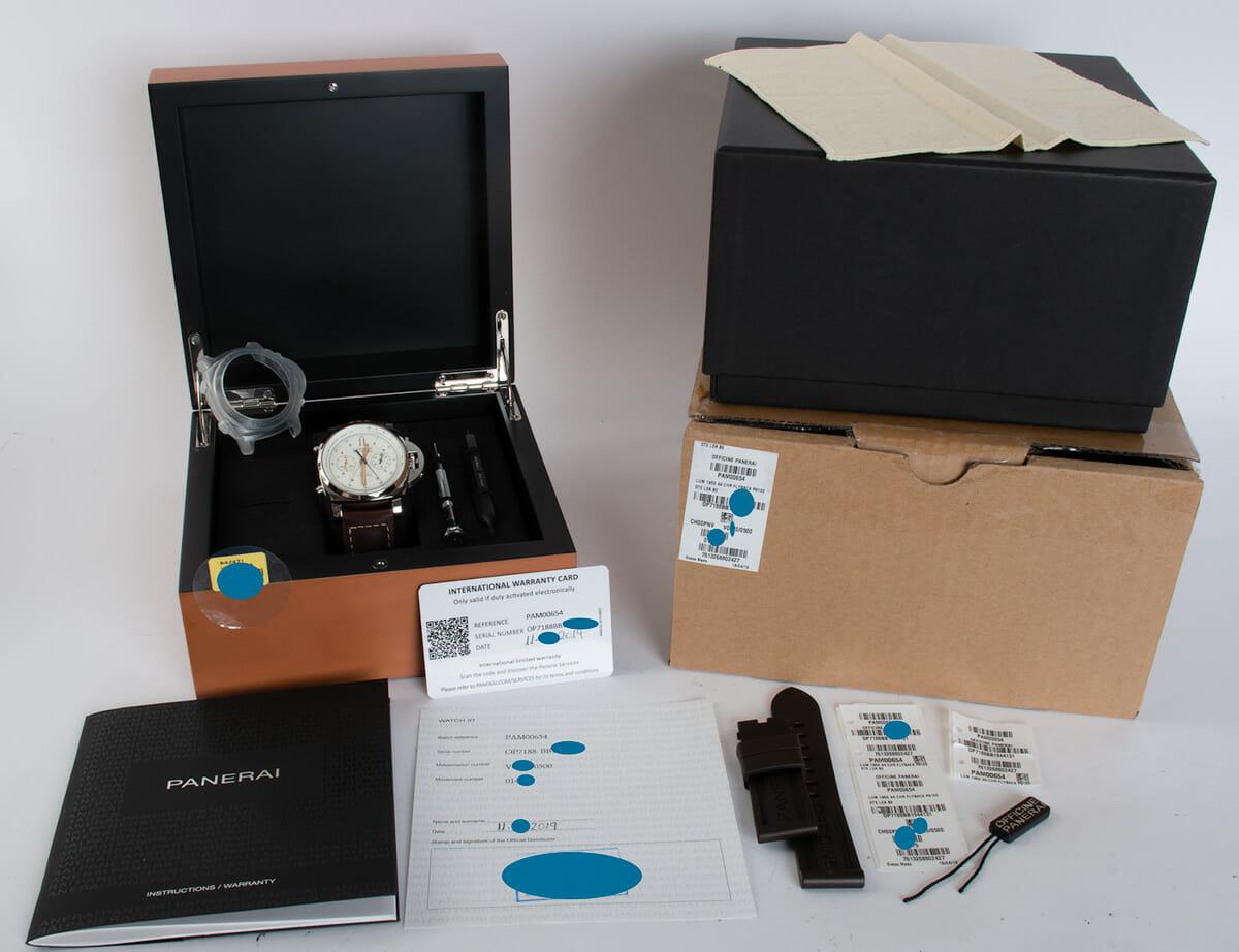 Box / Paper shot of Luminor 1950 PCYC Flyback Chronograph