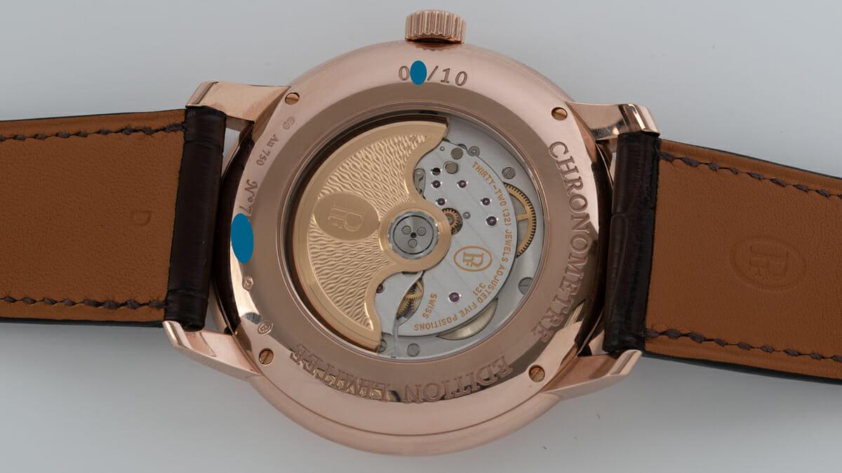 Caseback of Toric Chronometre Grand