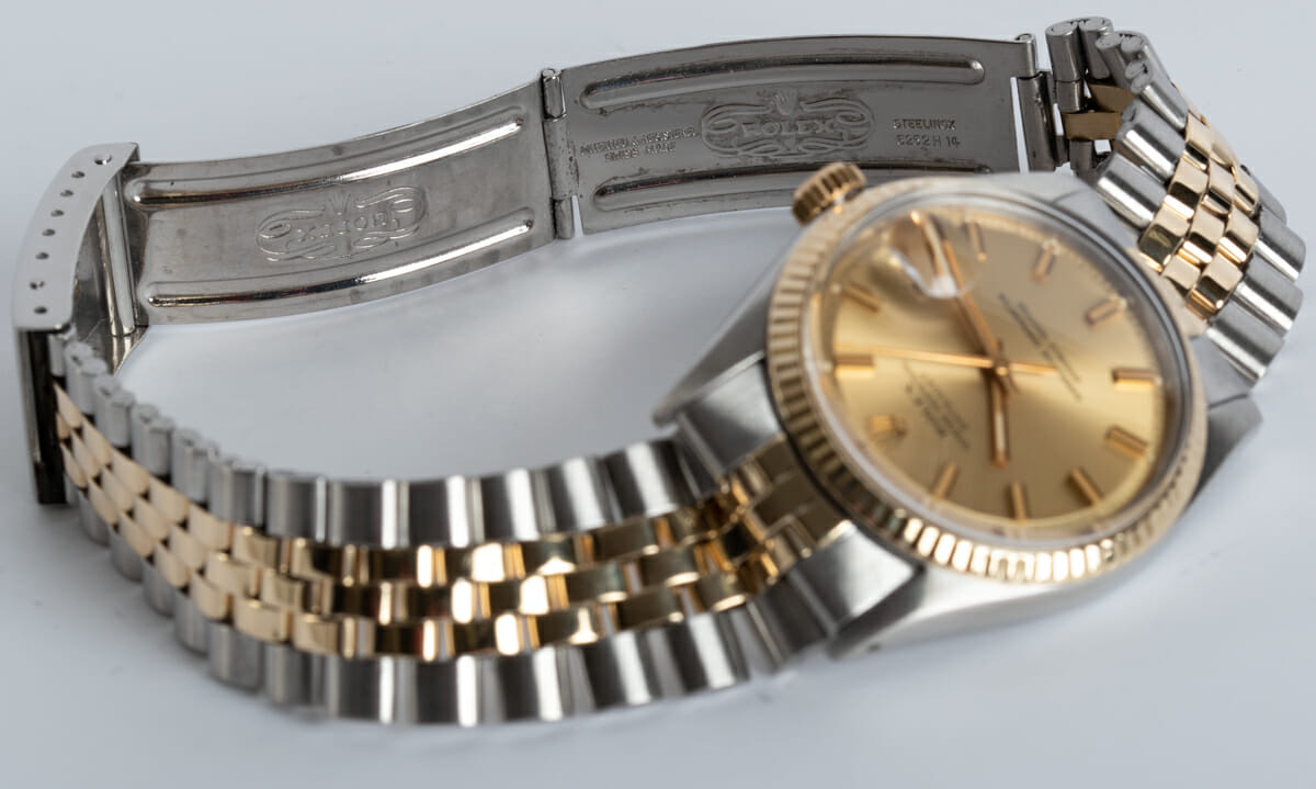 Open Clasp Shot of Datejust - Wide Boy Sigma