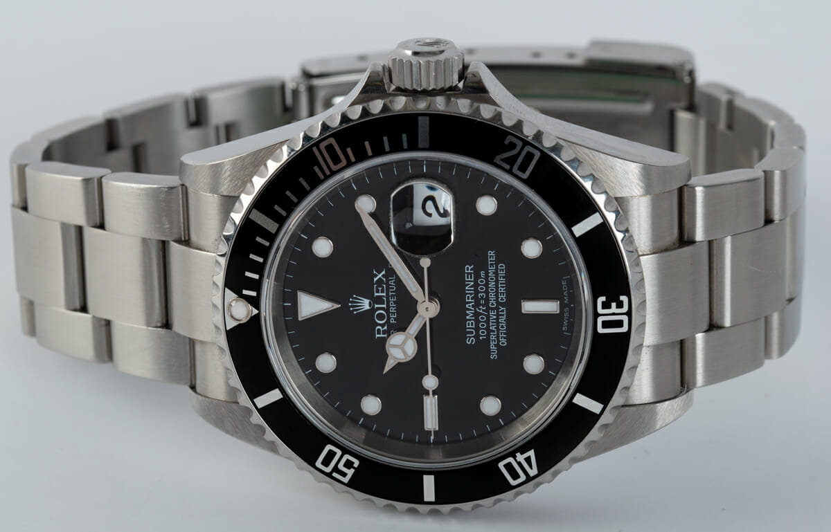 Front View of Submariner Date - unpolished