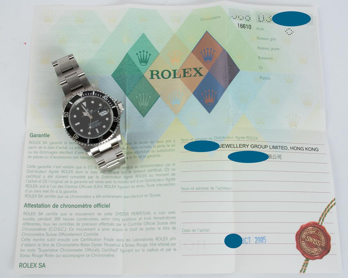 Paper shot of Submariner Date - unpolished