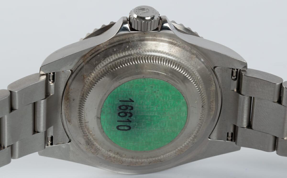 Caseback of Submariner Date - unpolished