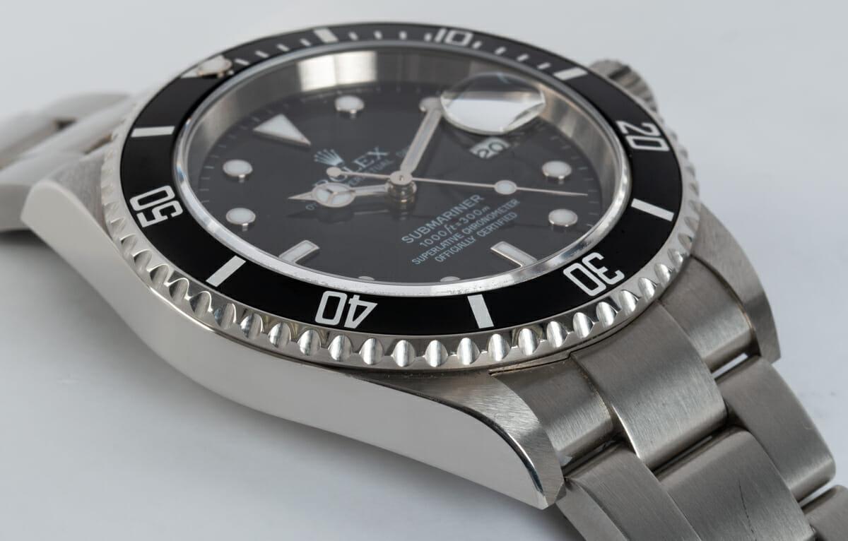 9' Side Shot of Submariner Date - unpolished