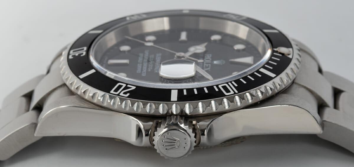 Crown Side Shot of Submariner Date - unpolished