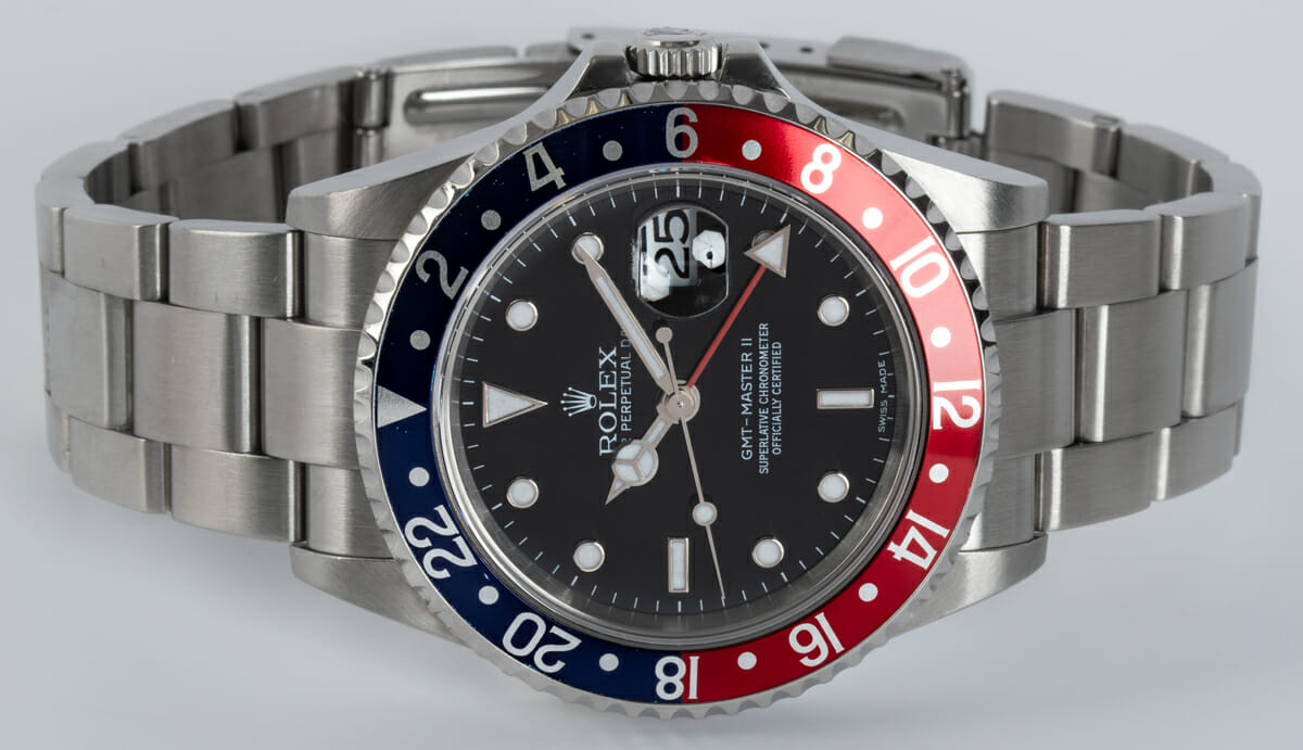 Front View of GMT-Master II 'Stick Dial'