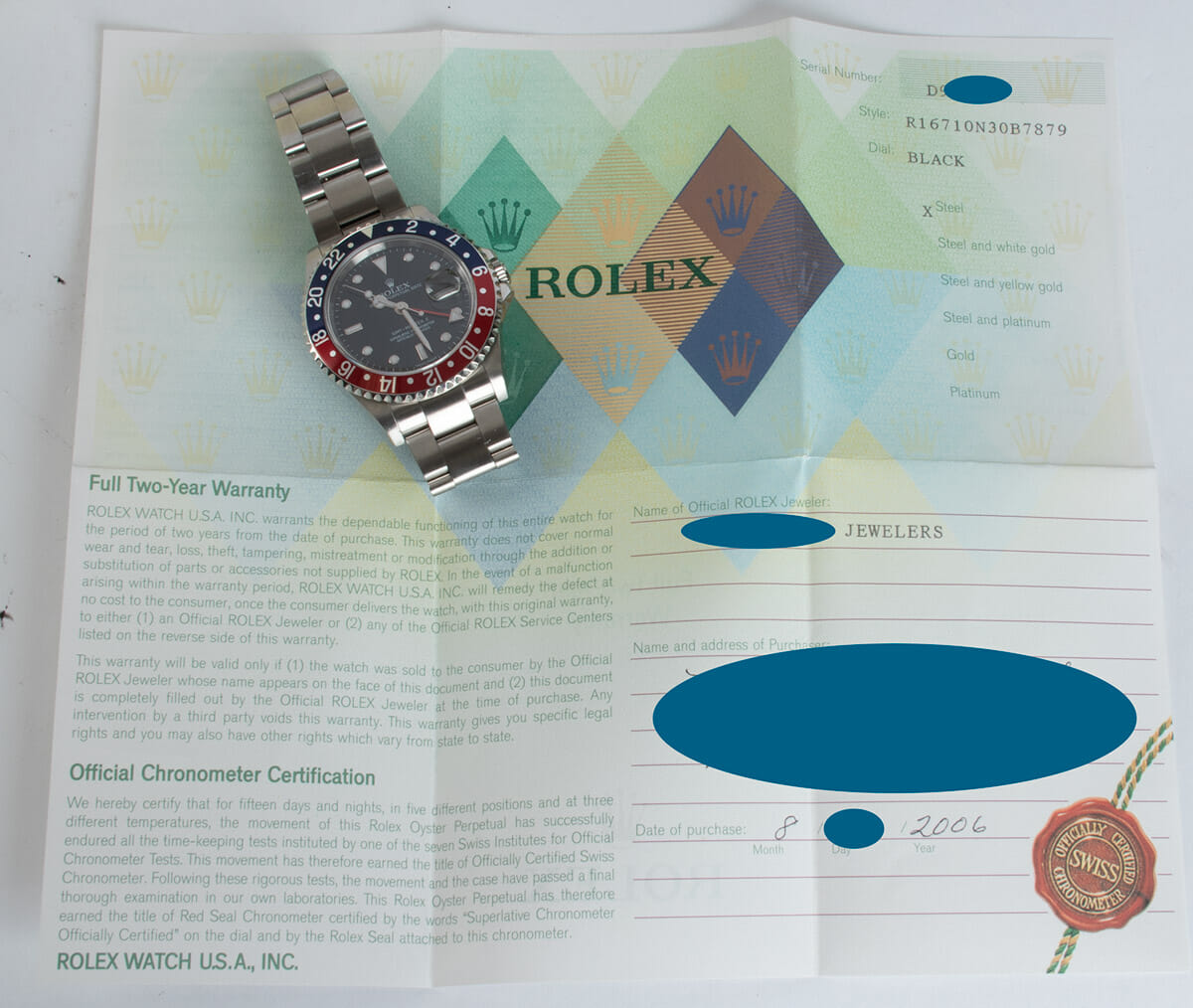 Paper shot of GMT-Master II 'Stick Dial'