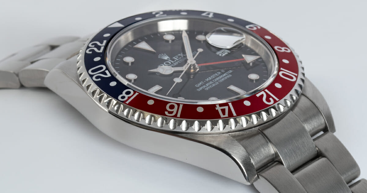 9' Side Shot of GMT-Master II 'Stick Dial'
