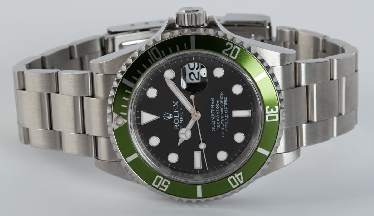 Front View of Submariner Date 'Anniversary' Mark VII - unpolished