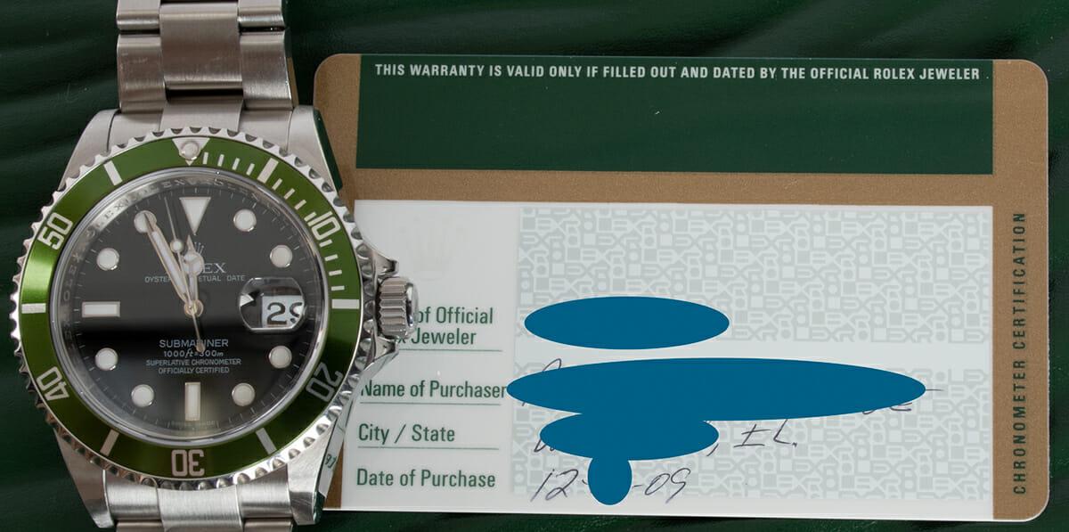 Paper shot of Submariner Date 'Anniversary' Mark VII - unpolished