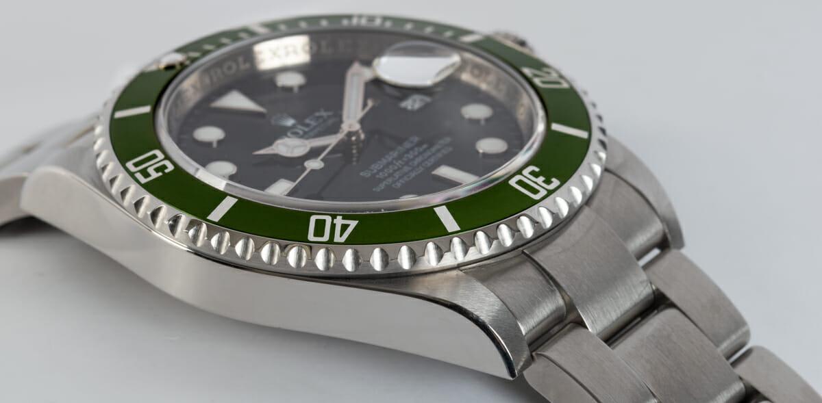 9' Side Shot of Submariner Date 'Anniversary' Mark VII - unpolished