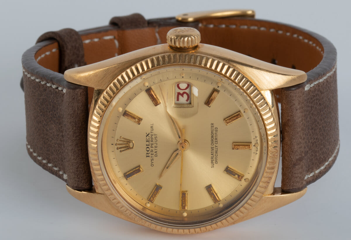 Front View of Datejust Ovettone Bubbleback
