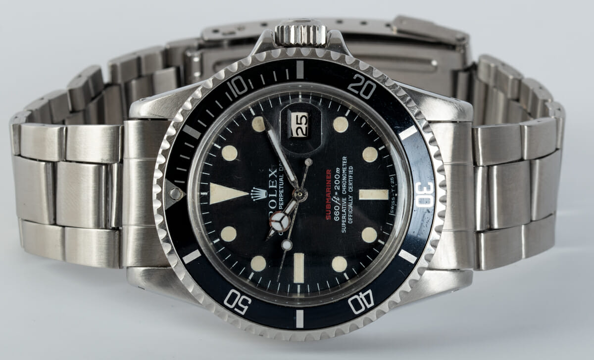 Front View of 'Red' Submariner Date 1680