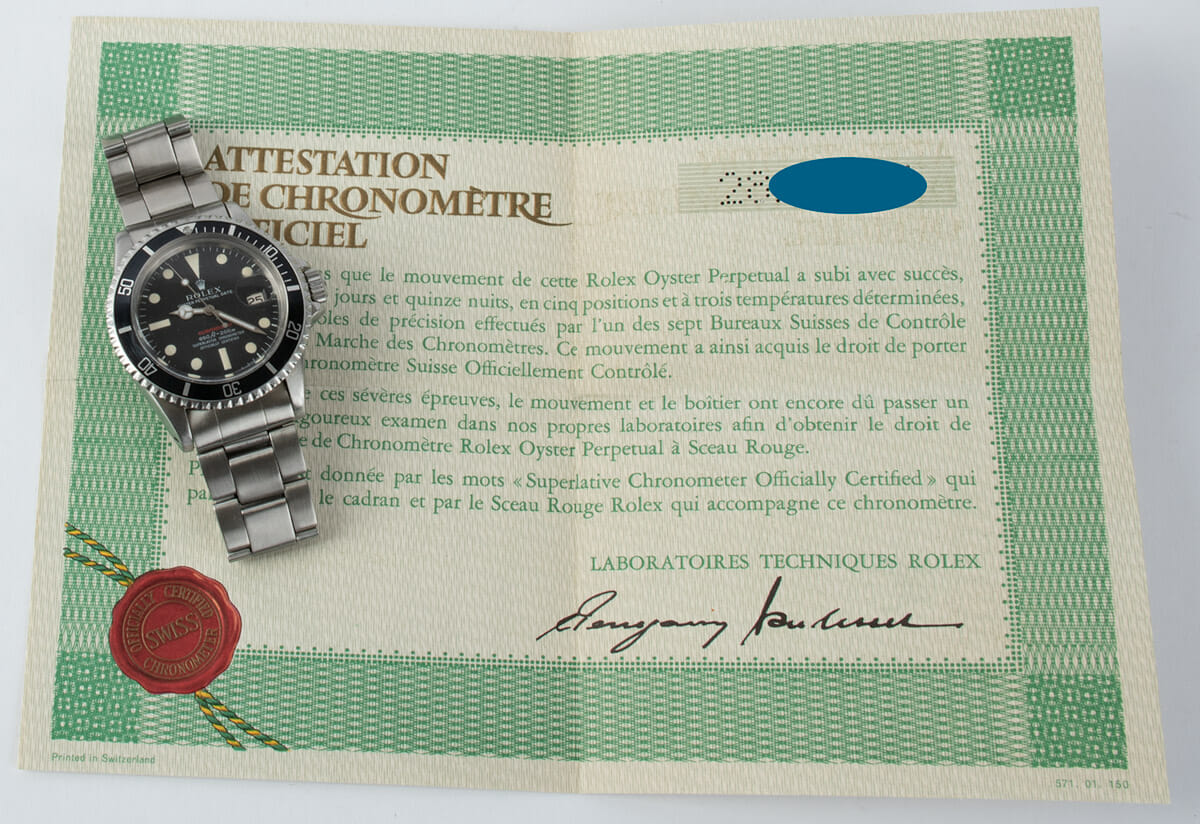 Extra Included Items of 'Red' Submariner Date 1680