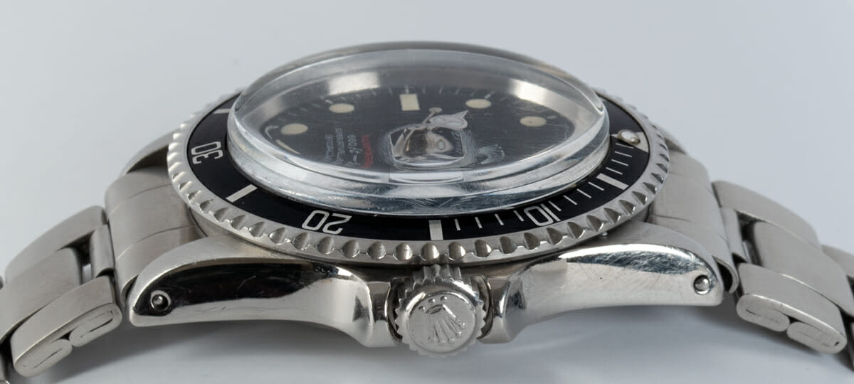 Crown Side Shot of 'Red' Submariner Date 1680
