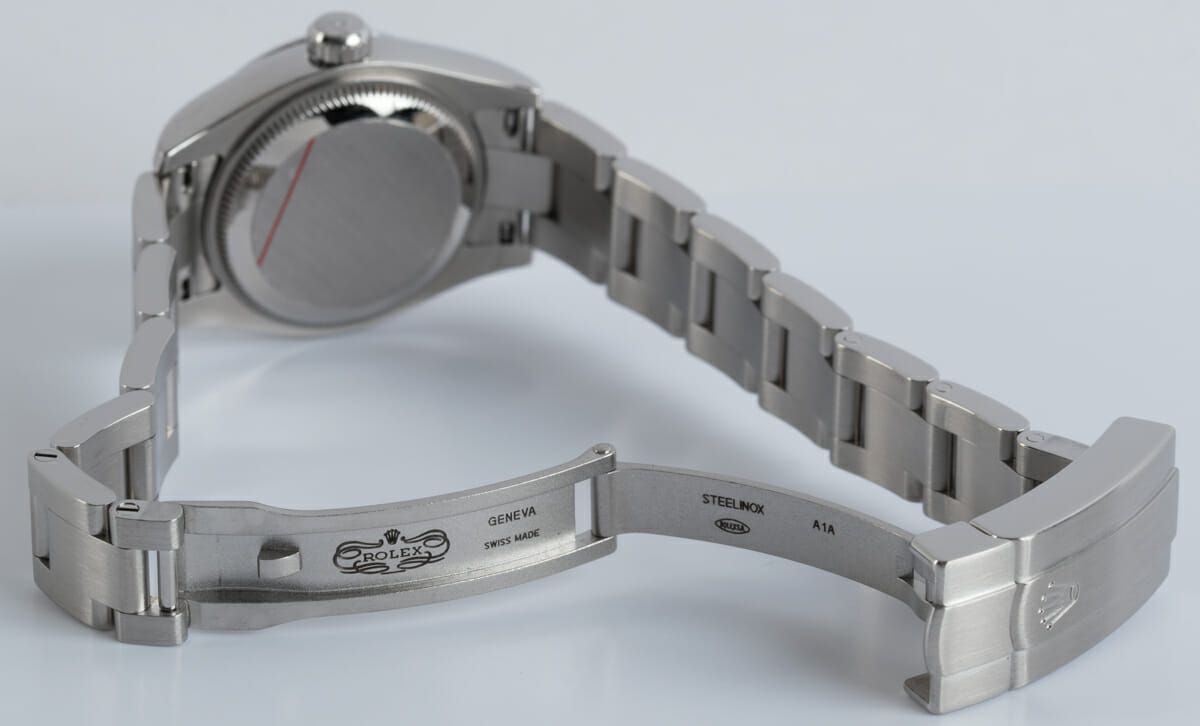 Open Clasp Shot of Ladies Oyster Perpetual