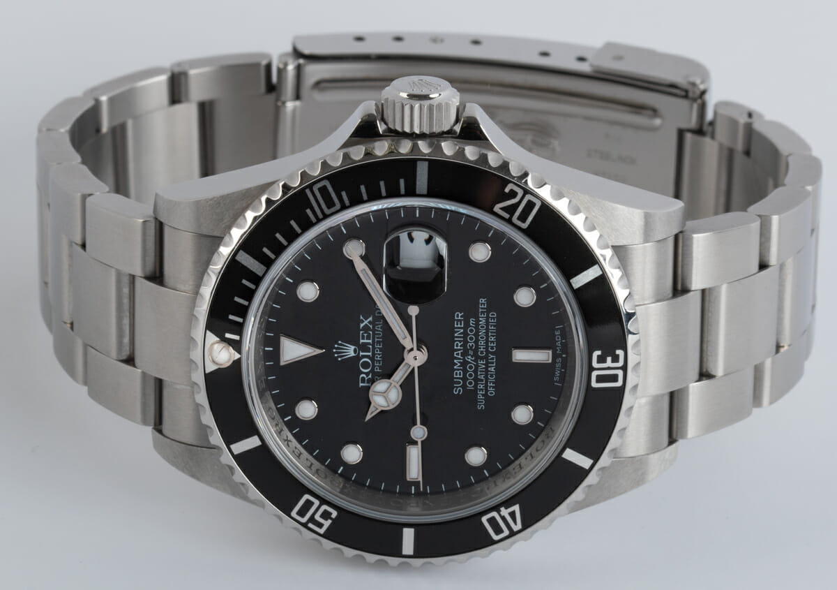 Front View of Submariner Date - never polished