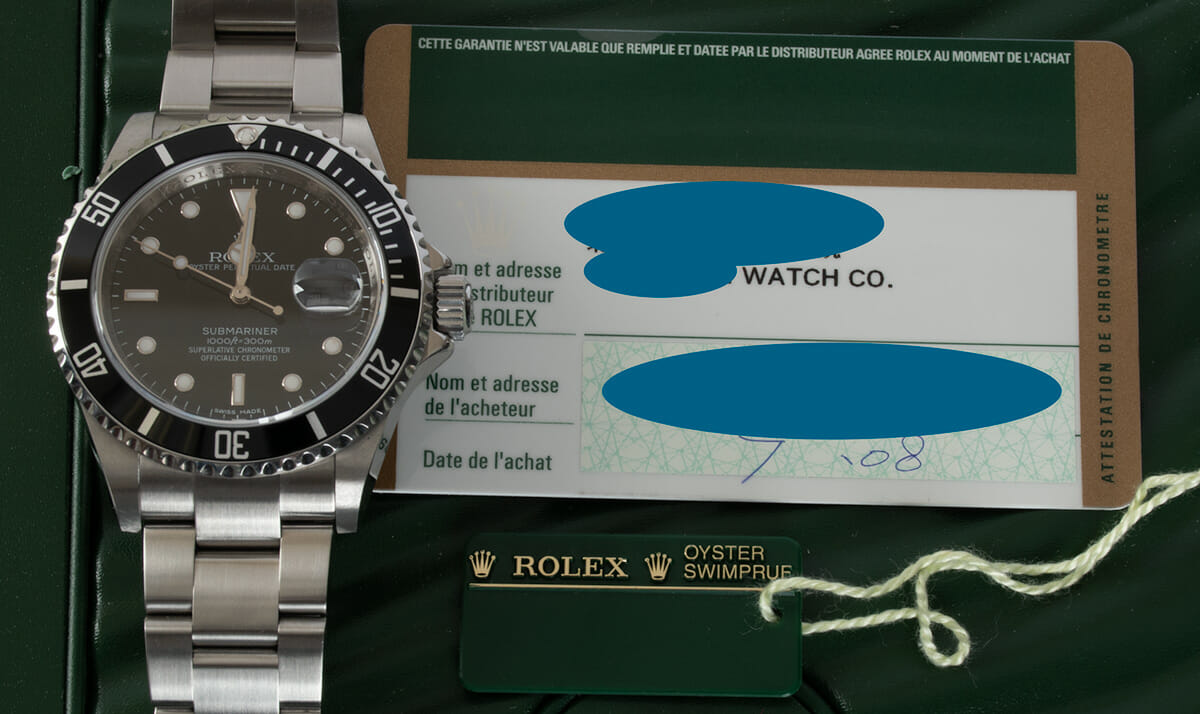 Paper shot of Submariner Date - never polished