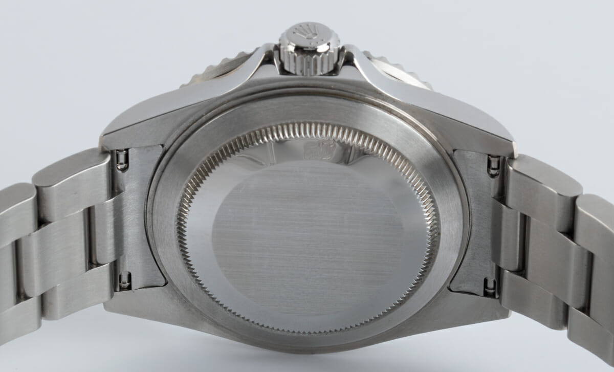 Caseback of Submariner Date - never polished