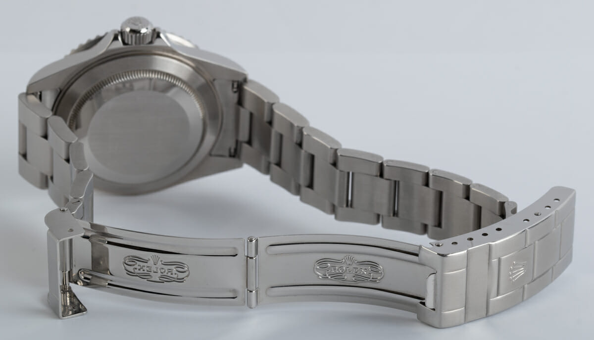 Open Clasp Shot of Submariner Date - never polished